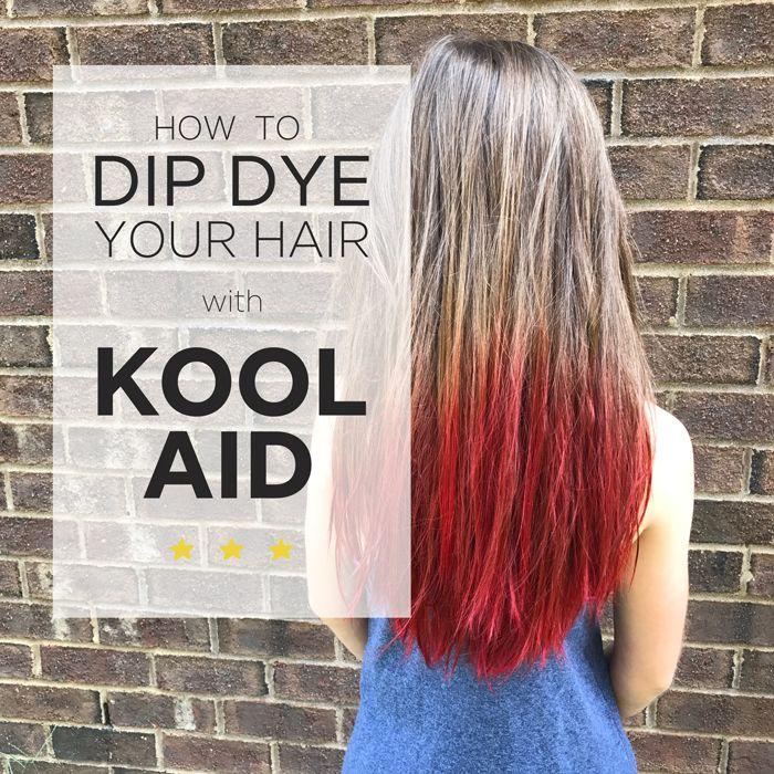 Kool Aid Hair Dye Kool Aid Hair Kool Aid Hair Dye Dip Dye Hair