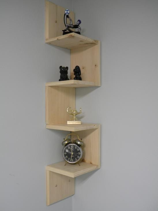 Neat corner shelf.