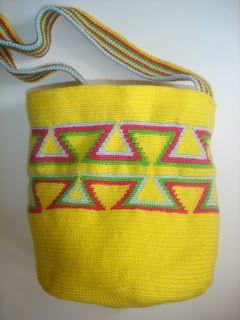 Cosas bonitas de hilos y telas: Bolso Wayuu