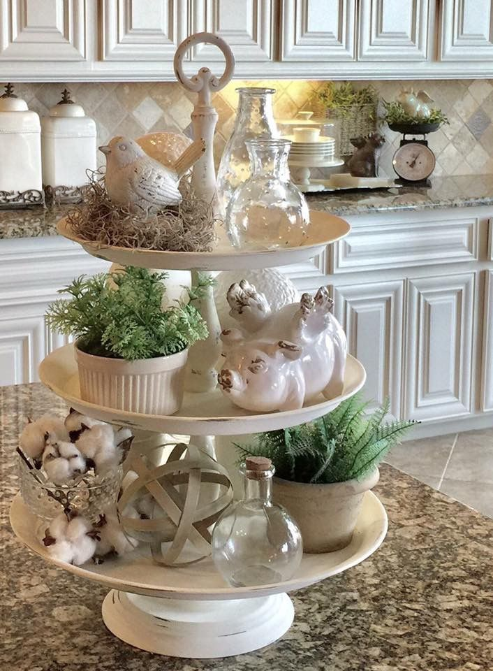25 best ideas about 3 tier stand on pinterest farmhouse for Elegant kitchen counter decor