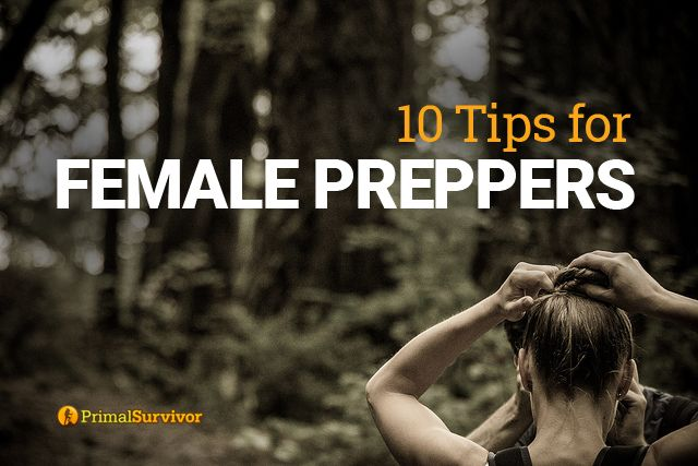 Are you a female prepper? Here are some tips for women preppers to help you get prepared for disaters and emergencies, even in a man's world!