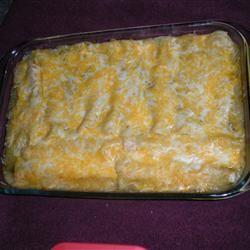 Jalapeno Cream Cheese Chicken Enchiladas Allrecipes.com
