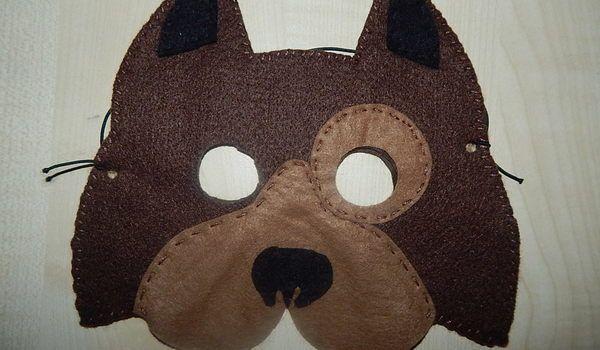 Piesek z filcu Maska http://dzieciociuszek.pl/products/37117