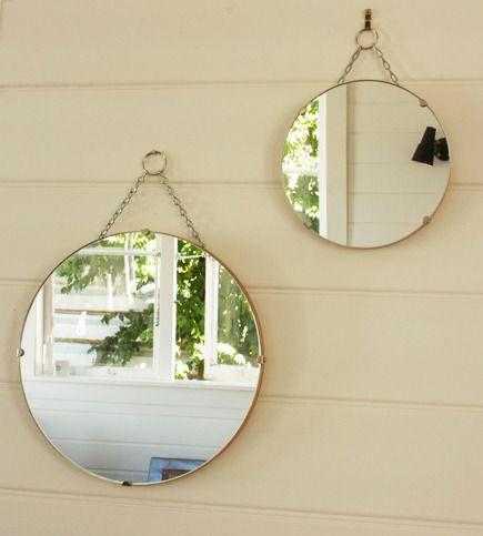 round vintage mirrors