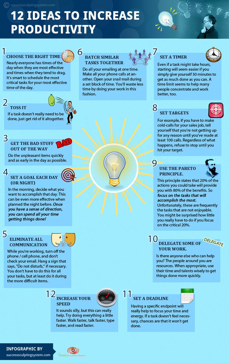 If you want to increase productivity, then check out these 12 ideas for increasing productivity.