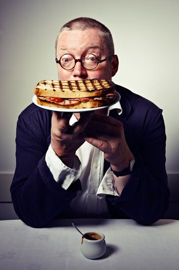The perfect bacon sandwich according to Fergus Henderson, aka Mr St John. Photograph: Levon Biss