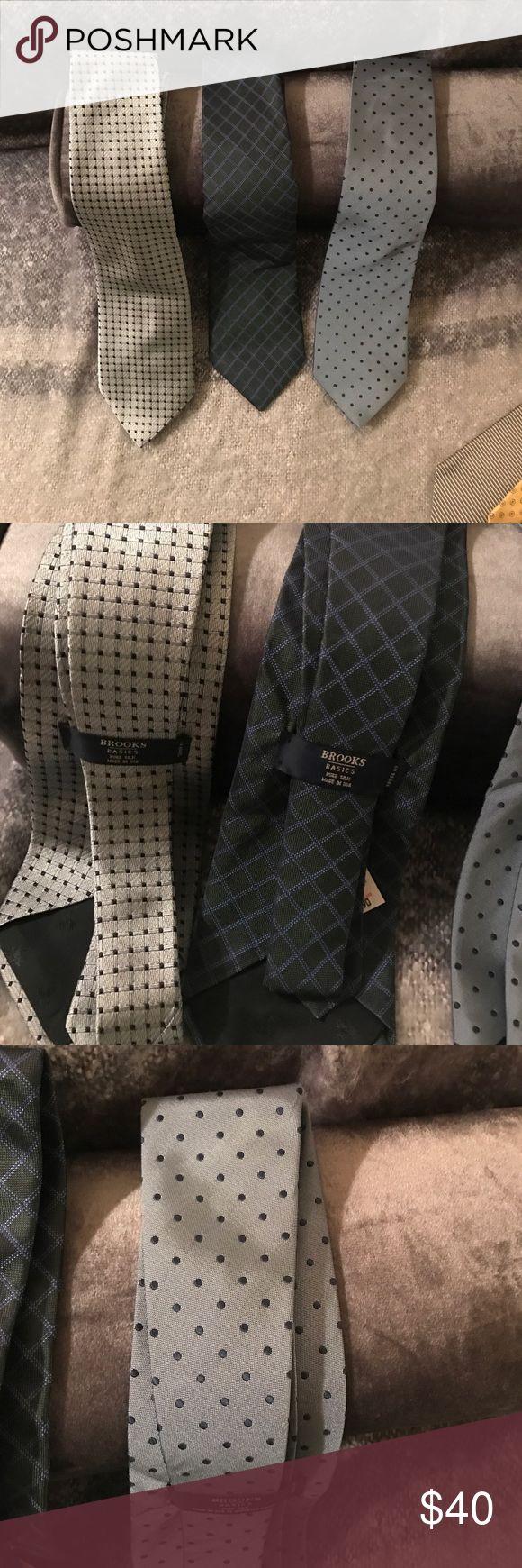 3 Brooks brothers basic ties 3 silk brooks brothers ties Brooks Brothers Accessories Ties