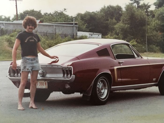 Came Across This Photo Of My Dad In The 70's With His Mustang And I Had To Share It