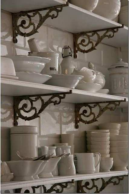 I want him to make something like these for my kitchen shelves to replace the boring plain ones I have.