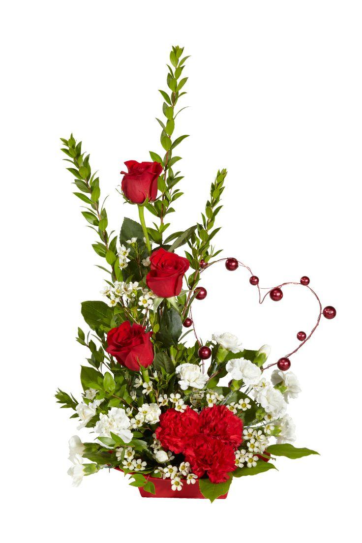 1373 best flower arrangements images on pinterest for Flower arrangements for valentines