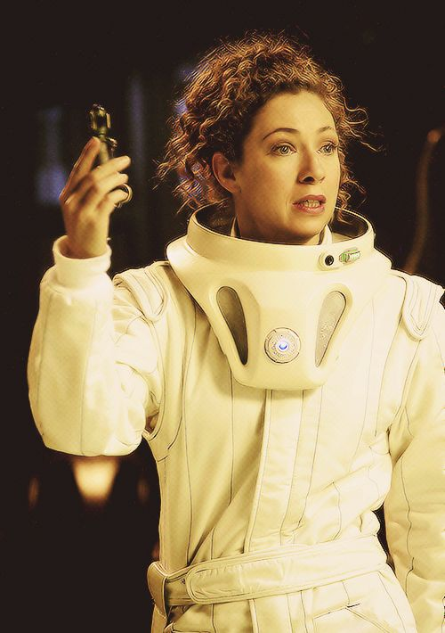 "Doctor Who Season 4 ""Silence in the Library."" She says, ""Professor Riversong, Archaeologist."""