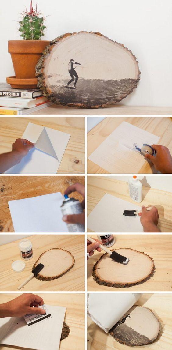 12 DIY-Ideen zum Übertragen von Fotos auf Holz   #wooddiy