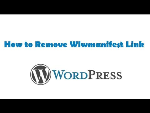 How to Remove Wlwmanifest Link  (Windows Live Writer)