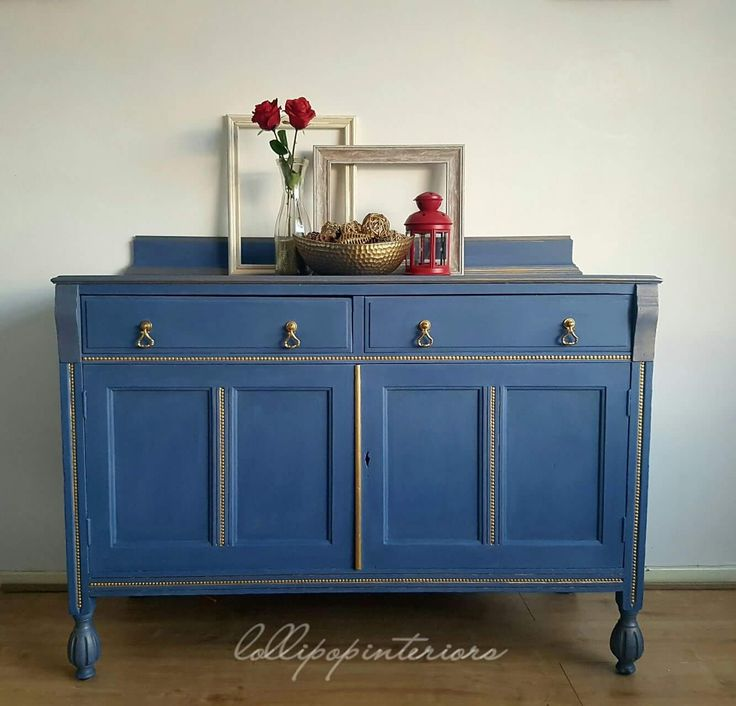 Vintage sideboard painted in everlongs amble sea blue and stardust gold.  181 best Painted antique - Painted Antique Furniture Antique Furniture