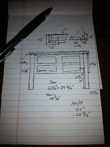 Excellent tutorial for creating a headboard from a door.