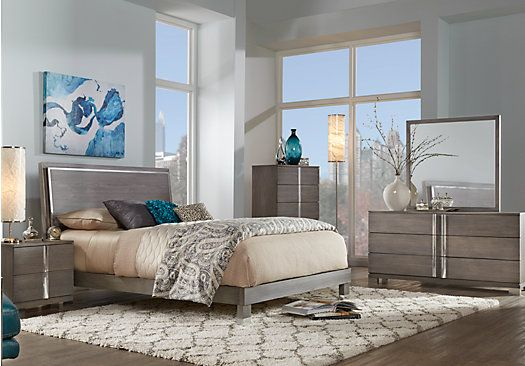 Siena Gray 5 Pc Queen Platform Bedroom. $899.99.  Find affordable Bedroom Sets for your home that will complement the rest of your furniture.