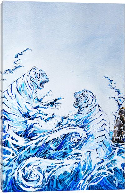 The Crashing Waves by Marc Allante Canvas Wall Art