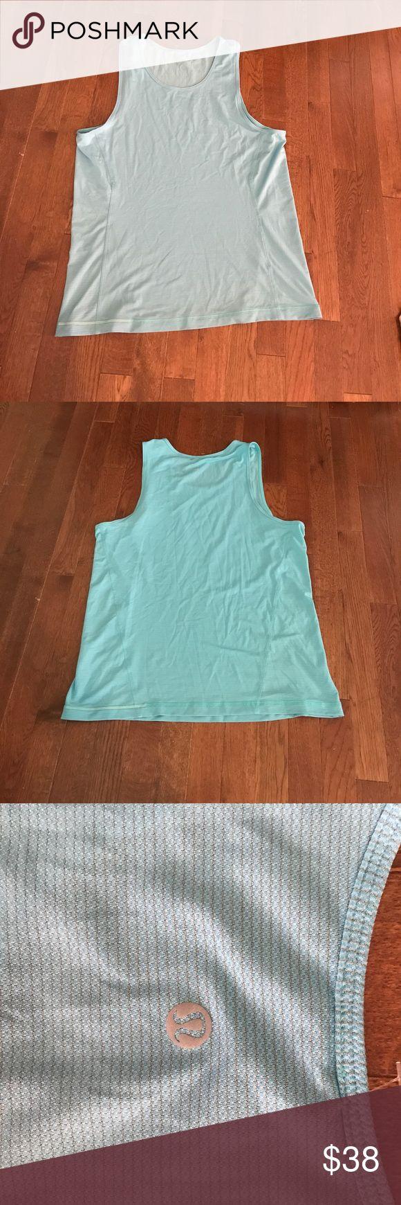 Lululemon Men's Sky Blue Surge Tank Silverescent L Lululemon Men's Sky Blue Surge Tank Silverescent L. Excellent condition lululemon athletica Shirts