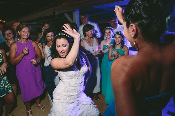 Don't forget to have fun at your wedding | Dancing in your wedding dress | Beach wedding | Destination Weddings in Greece