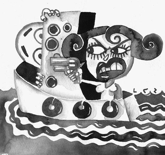 Es una historia de amor, celos y odio que concluyó en un asesinato. Satira, una norteamericana que se presentaba como «bailarina exótica» y cuyo nombre real era el de Patricia Schmidt, dio muerte a su amante, también norteamericano, a bordo del improvisado yate, surto en la bahía habanera, donde ambos fueron a vivir cuando, por falta de pago, tuvieron que abandonar el hotel Saratoga, de Prado esquina a Dragones