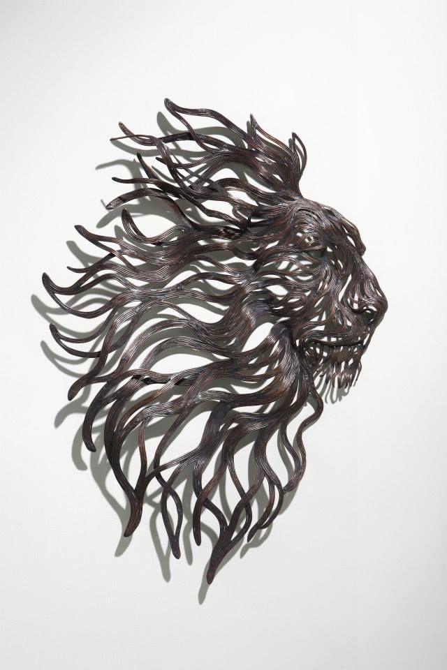 Les Sculptures animalières de Bandes métalliques de Sung Hoon Kang (18)