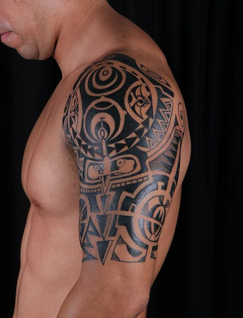 polynesian tattoo by miamitattooshop, via Flickr