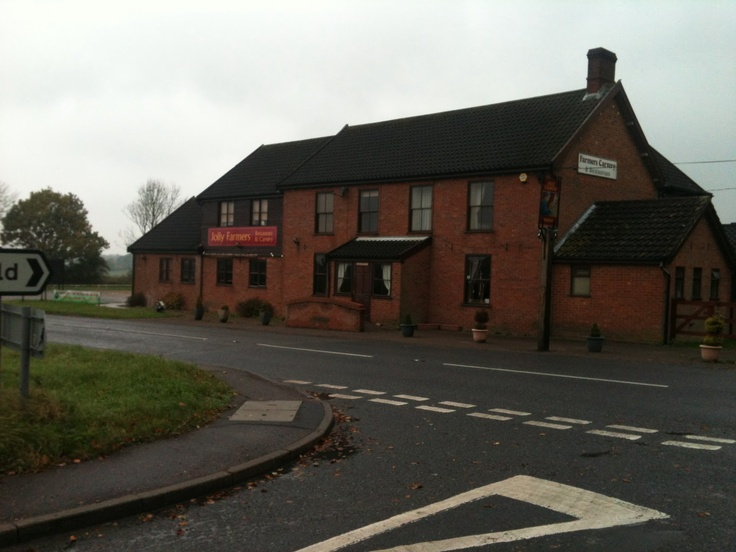 Jolly Farmers pub at Forncett, the other end of Tacolneston.