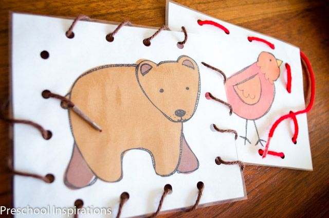 Brown Bear Lacing Busy Bag