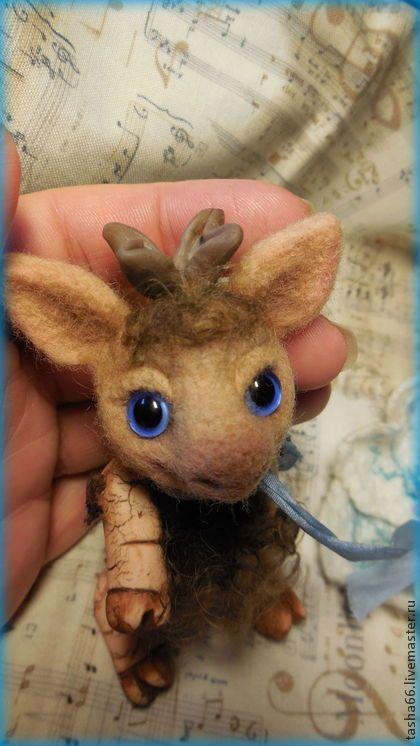 Лосяш. - бежевый,авторская игрушка,авторский лось,коллекционный экземпляр