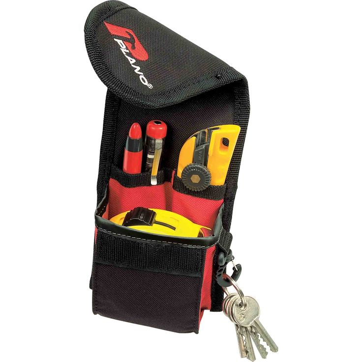 Plano Technic Small Tool Pouch: Tool holder made from tough material with snap for tape, rolls… #Tools #HandTools #PowerTools #GardenTools
