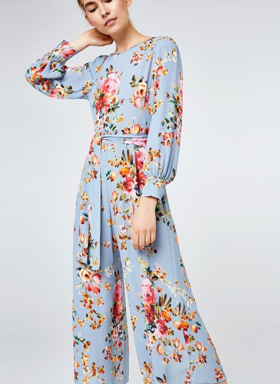 Uterqüe United Kingdom Product Page - Ready to wear - Jumpsuits - Floral jumpsuit - 150