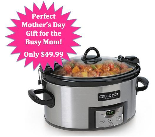 Need a Mother's Day gift idea for your busy mom? This Programmable Crock Pot would be perfect!
