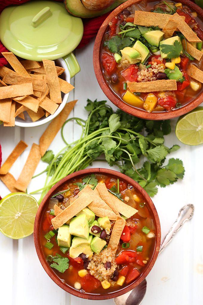 215 best como mxico no hay dos images on pinterest mexican food swap the chicken for quinoa in this healthy vegetarian quinoa tortilla soup recipe quinoa is forumfinder Gallery