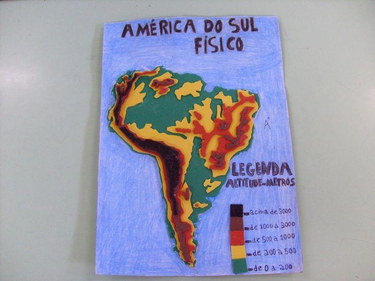 Maquete da América do Sul