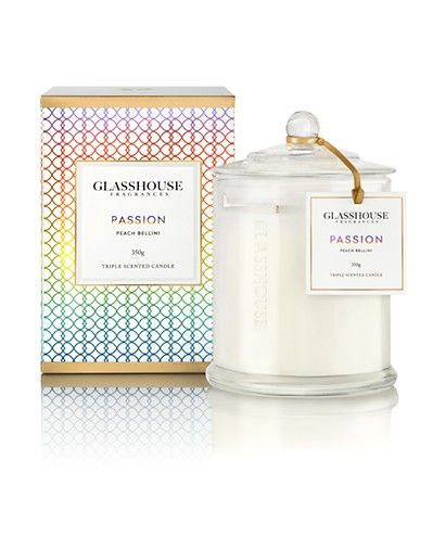 Limited Edition Passion Peach Bellini Candle by Glasshouse Fragrances