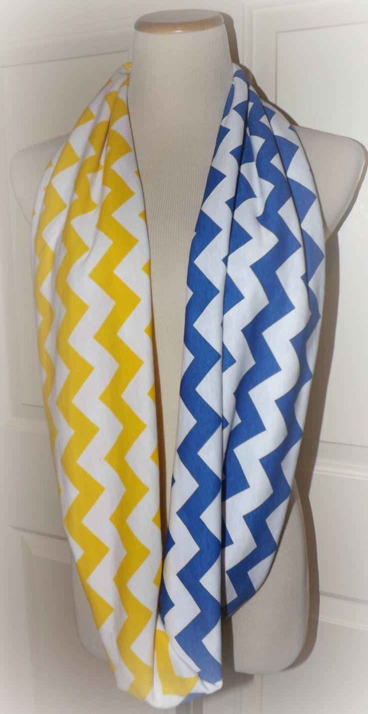 Royal Blue and Yellow Chevron Buddy Walk by tammylynnscreations, $15.00