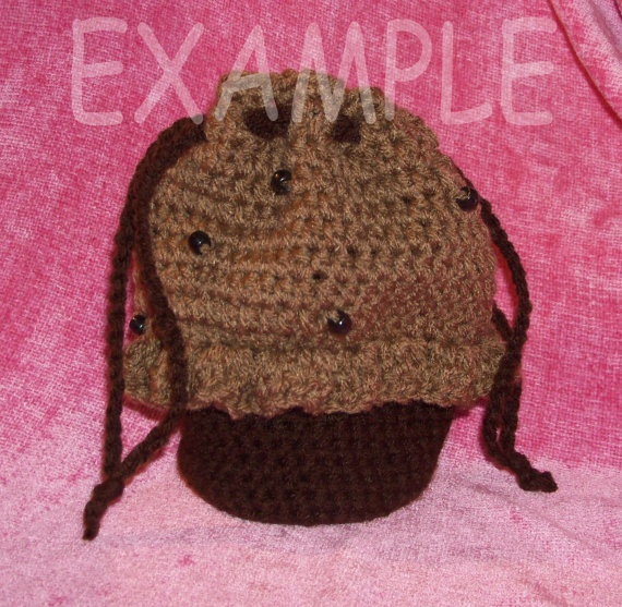Custom Made to Order Crochet Mini Cupcake by MissMegansCraftHaven, $15.00 (Medium sized bag will be added this week.)
