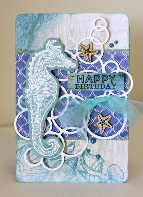 Kaisercraft Coastal Escape Birthday Card by Alicia McNamara