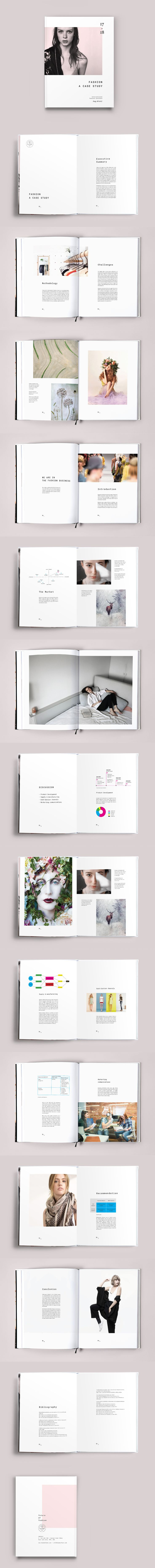 Fashion Case Study Template InDesign INDD - 28 Pages, A4 & US letter size + Bleed
