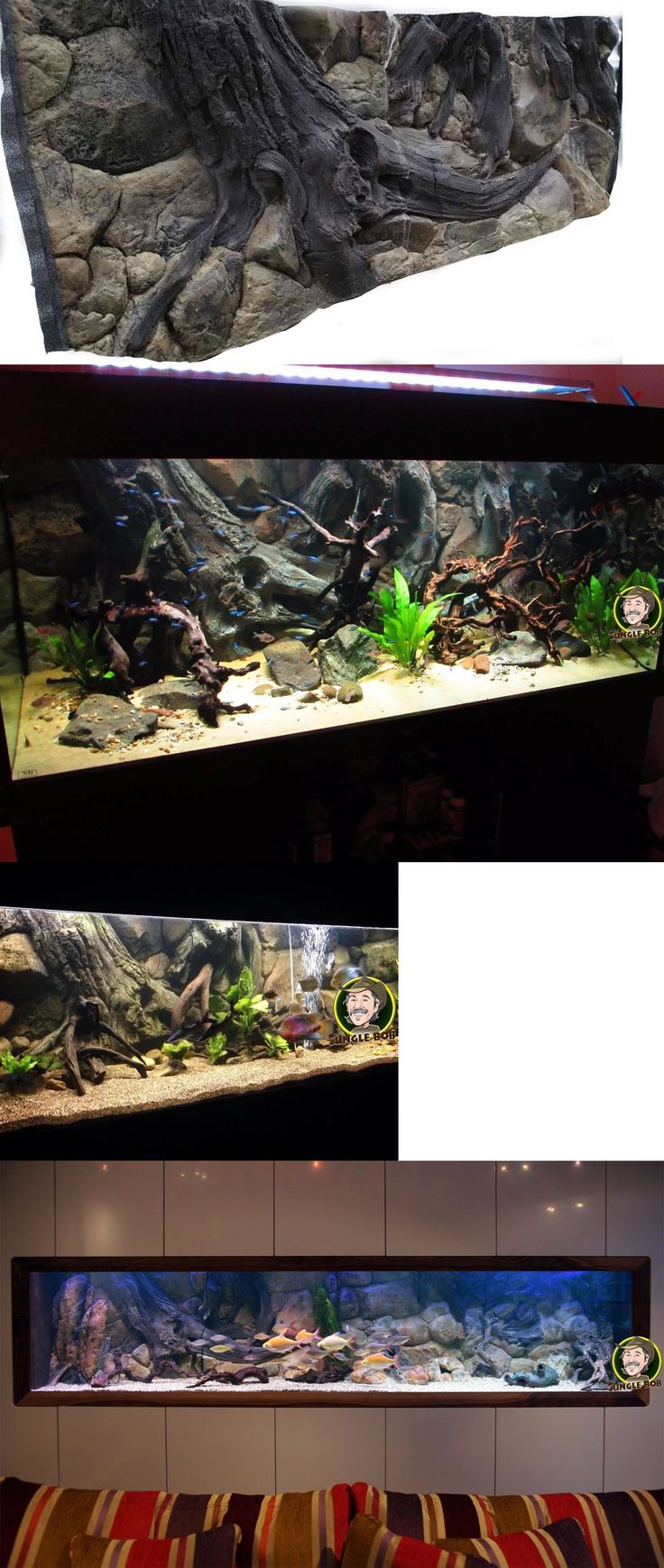 Aquariums and Tanks 20755: Jungle Bob 3D Amazon Background 72X23 For 125 Gallon Aquarium Decoration 7869 -> BUY IT NOW ONLY: $378.99 on eBay!