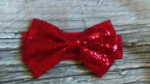 Check out this item in my Etsy shop https://www.etsy.com/ca/listing/492540651/large-sequin-bow-headband-christmas