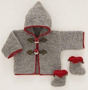 Le duffle-coat Champignons de Beauchamp #ladroguerie #tricot