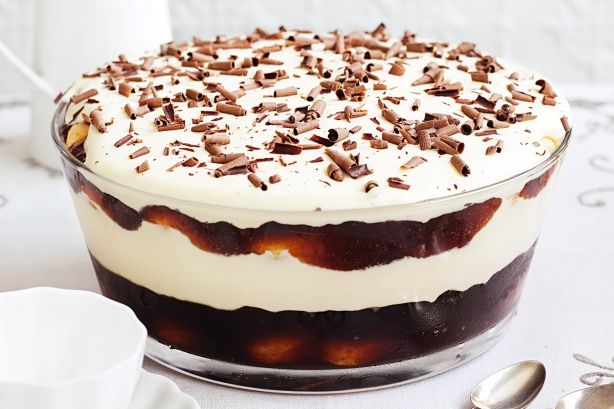 With luscious layers of sponge, cream and mascarpone, this make-ahead trifle dessert is truly tempting.