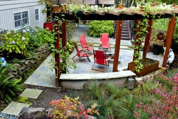 Pergola with creepers growing over it!!
