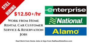 STILL HIRING! - $12.50+/Hour – Work from Home for Alamo, Enterprise and National Rental Car