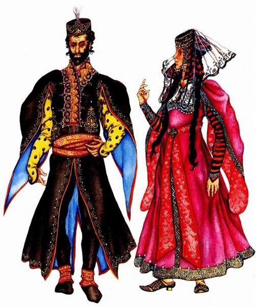 Мужской армянский национальный костюм фотографии