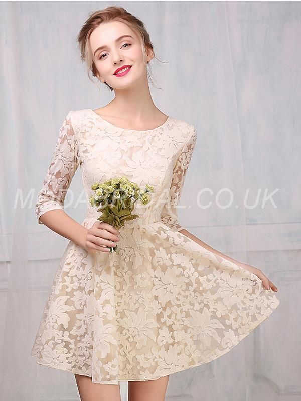 modabridal.co.uk SUPPLIES UK Style Natural Winter 3/4 Length Sleeves Homecoming Glamorous & Dramatic All Sizes Summer Sweet 16 Dress Homecoming Dresses