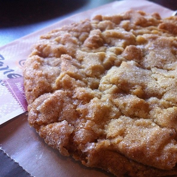 This could possibly be the best cookie ever! Panera Bread's Peanut Butter Dream Cookie. I want this recipe!!