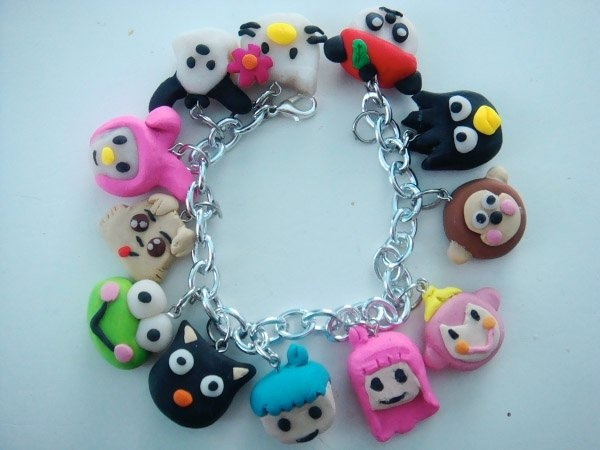 hello kitty charm bracelet...must make for joselyn with my poly clay