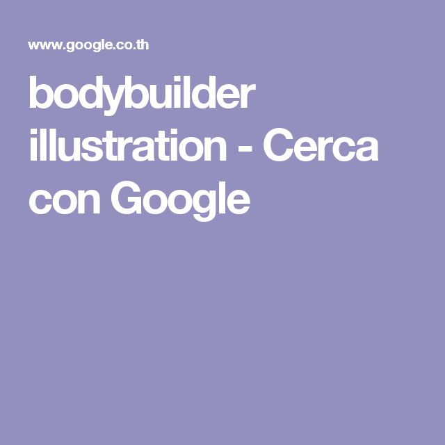 bodybuilder illustration - Cerca con Google